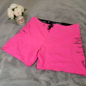 Salt Life SLX-QD Neon Pink Board Shorts Size 38